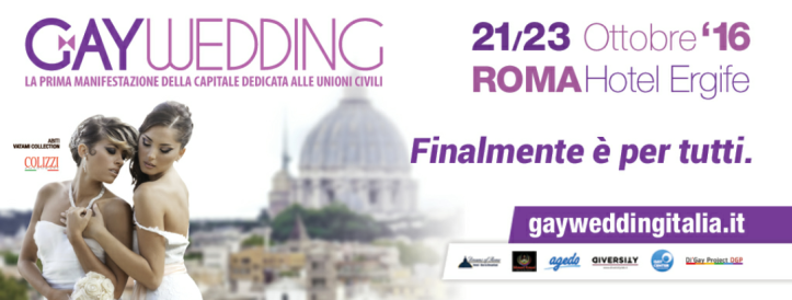 Inaugurazione Gay Wedding – Roma, 21/10/2016