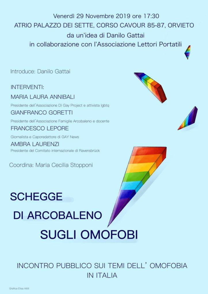 Schegge di arcobaleno sugli omofobi